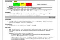 Program Management Reporting Templates Schedule Template Status intended for Deviation Report Template