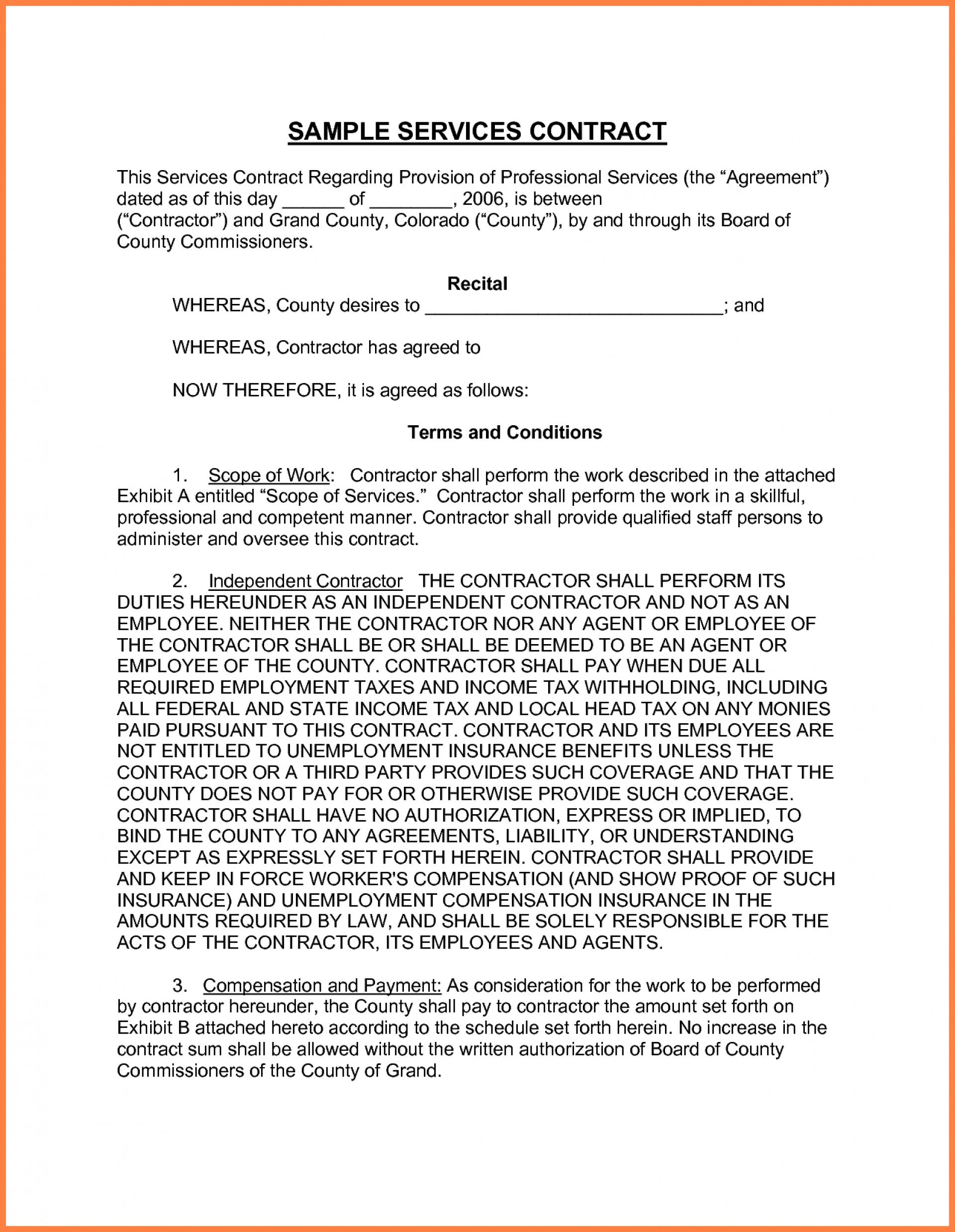 Project Management Consultant Contract Template Professional For Physician Professional Services Agreement Template