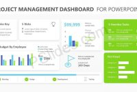 Project Management Dashboard Powerpoint Template  Pslides regarding Project Dashboard Template Powerpoint Free