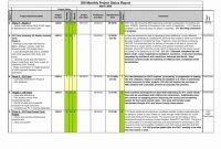 Project Management Report Late Excel Monthly Reports Lates  Smorad within How To Write A Monthly Report Template