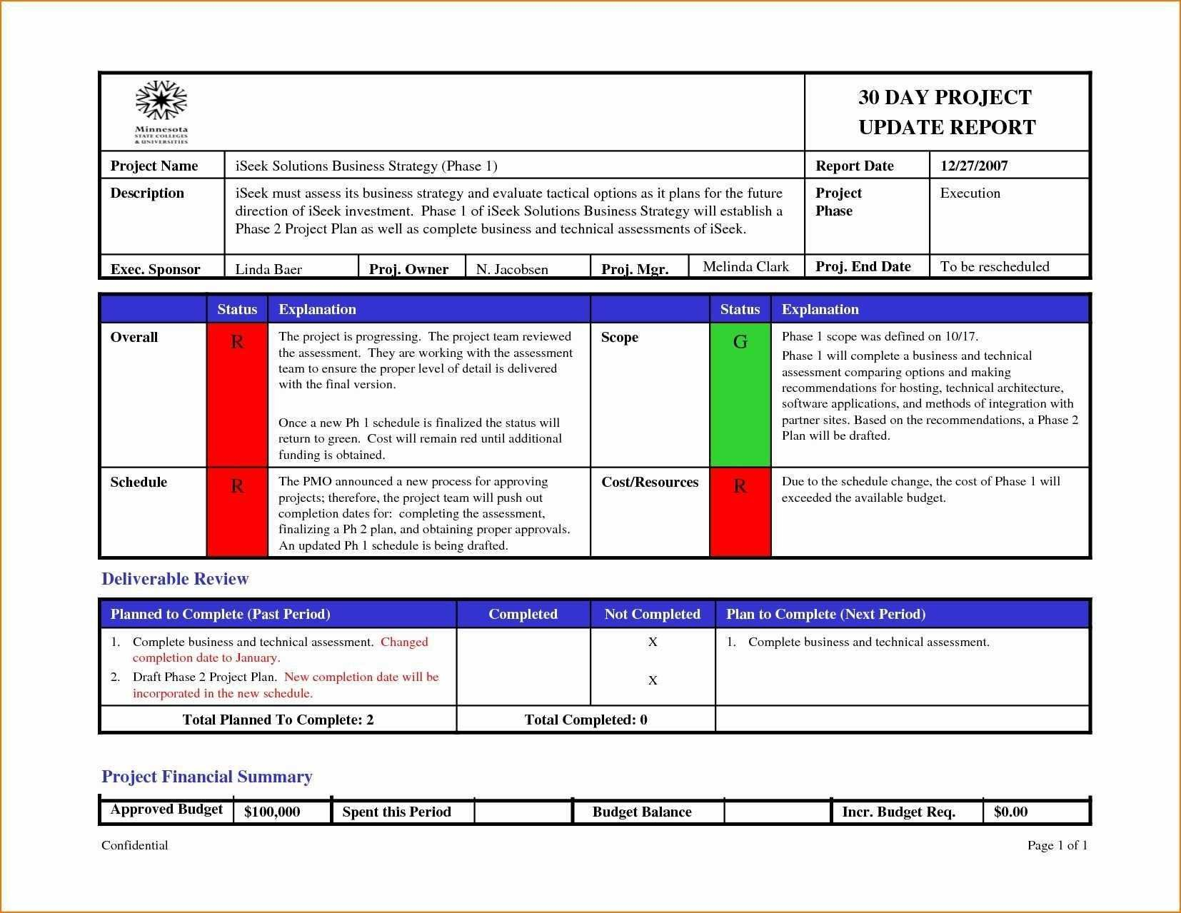 Project Management Weekly Status Report Template Ppt Excel  Smorad Pertaining To Weekly Progress Report Template Project Management