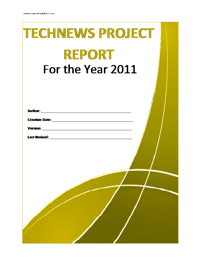 Project Report Template Throughout Project Analysis Report Template