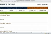 Project Status Report Template  Youtube throughout Project Status Report Template In Excel