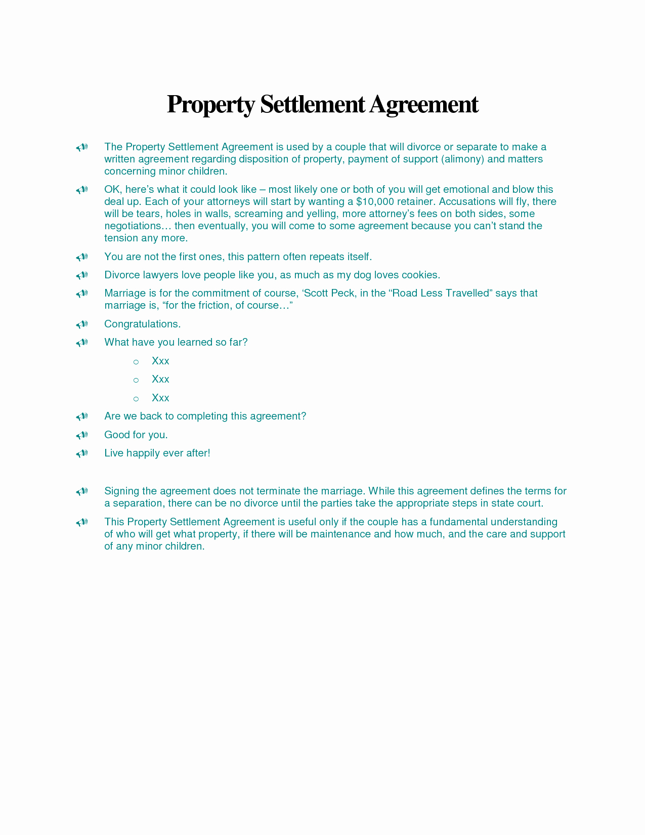 Property Settlement Agreement Template Divorce Fresh Best S Of In Property Settlement Agreement Sample
