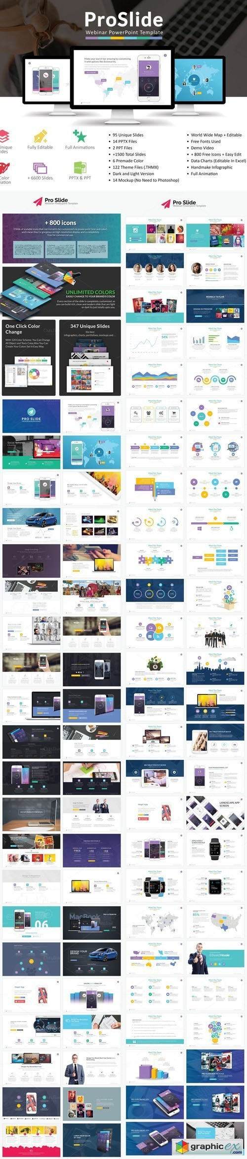Proslide Webinar Powerpoint Template » Free Download Vector Stock Inside Webinar Powerpoint Templates