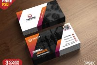 Psd Business Card Design Free Templates  Psd Zone inside Name Card Design Template Psd