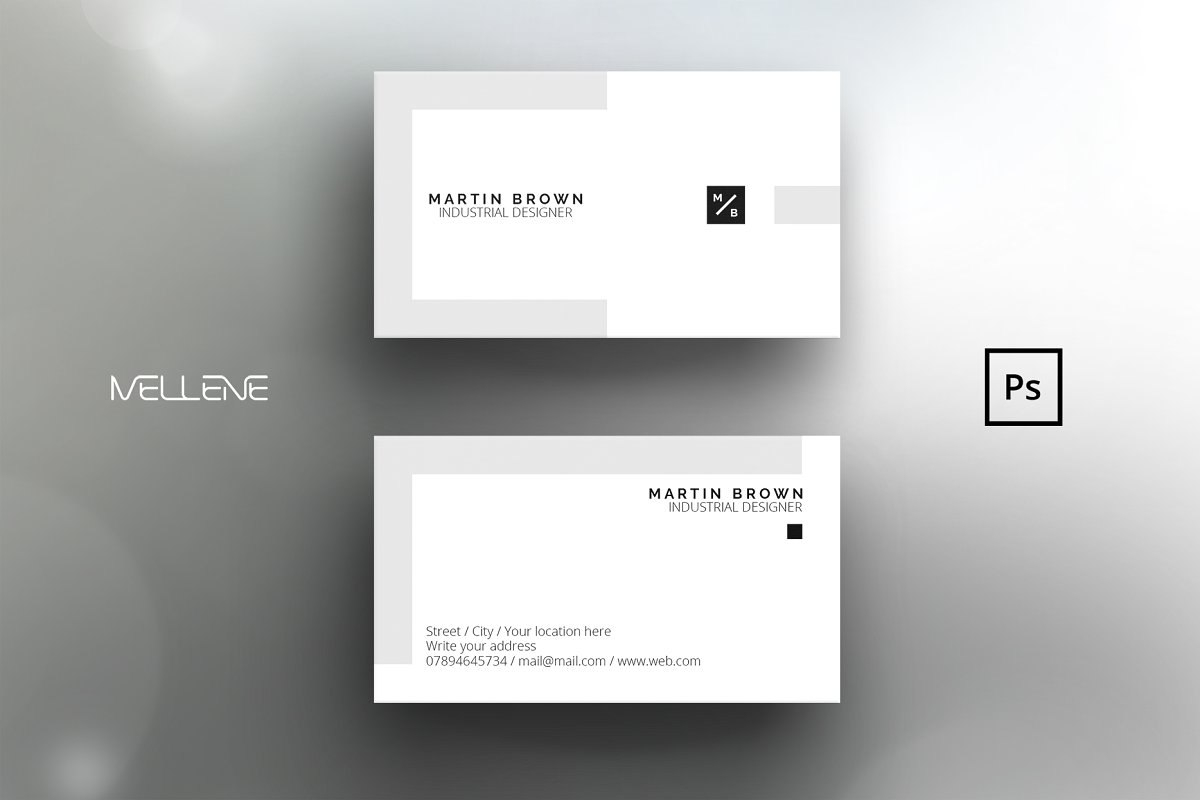 Psd Business Card Template Design For Men Male Minimal Clean For Business Card Template Size Photoshop