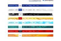 Psd Web Navigation Html And Css Menus Set  Psdgraphics for Free Css Navigation Menu Templates