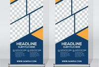 Pull Up Banner  Corporate Vector Images with Pop Up Banner Design Template