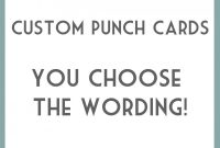 Punch Card Template Word Free Printable  Dreaded Ideas regarding Free Printable Punch Card Template