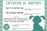 Puppy Adoption Certificate  Dog Birthday In   Adoption with regard to Pet Adoption Certificate Template