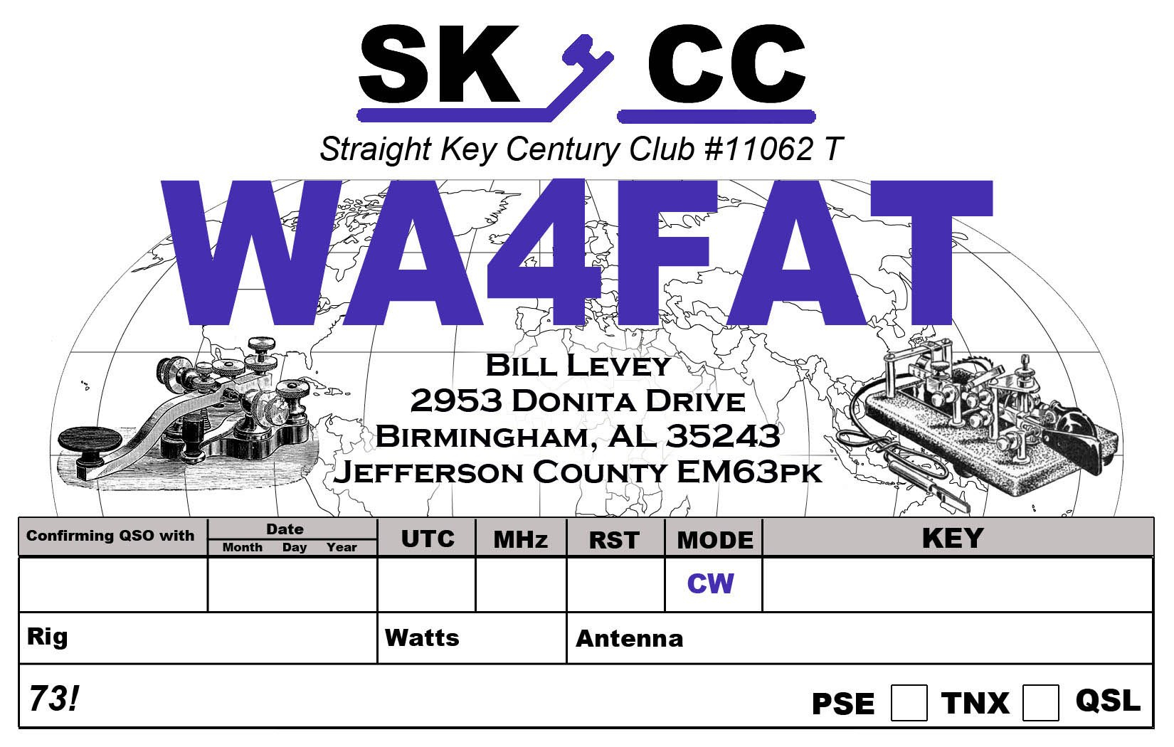 Qsl Cards  Wafat Regarding Qsl Card Template
