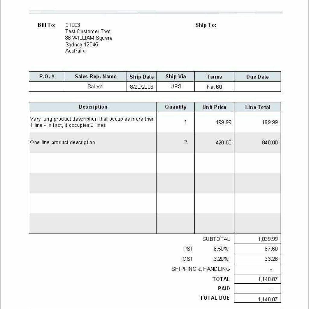 Quickbooks Export Invoice Template Online   Letsgonepal Intended For Quickbooks Export Invoice Template