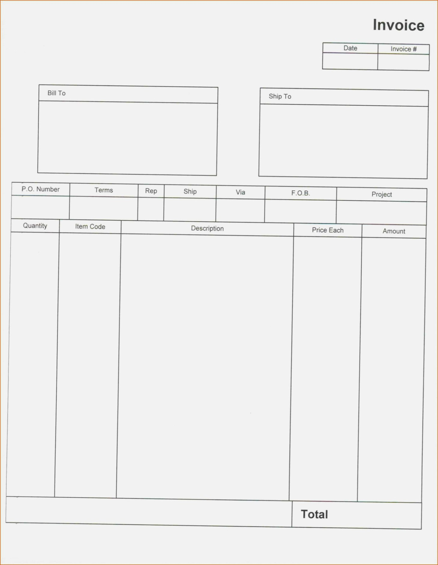 Quickbooks Invoice Templates Download Desktop Template Excel Pertaining To Quickbooks Invoice Template Excel