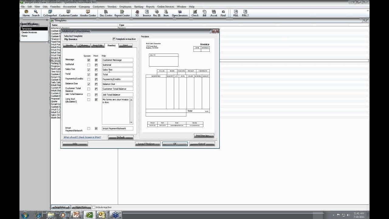 Quickbooks Tutorial  Creating Custom Form Templates  Youtube Intended For Quick Book Reports Templates
