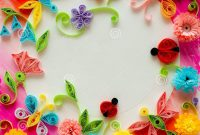 Quilling Greeting Card Blank Template Stock Image  Image Of regarding Free Printable Blank Greeting Card Templates