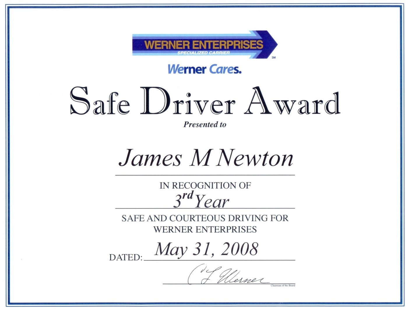 Rd Place Certificate Template Word  Certificatetemplateword Intended For Safe Driving Certificate Template