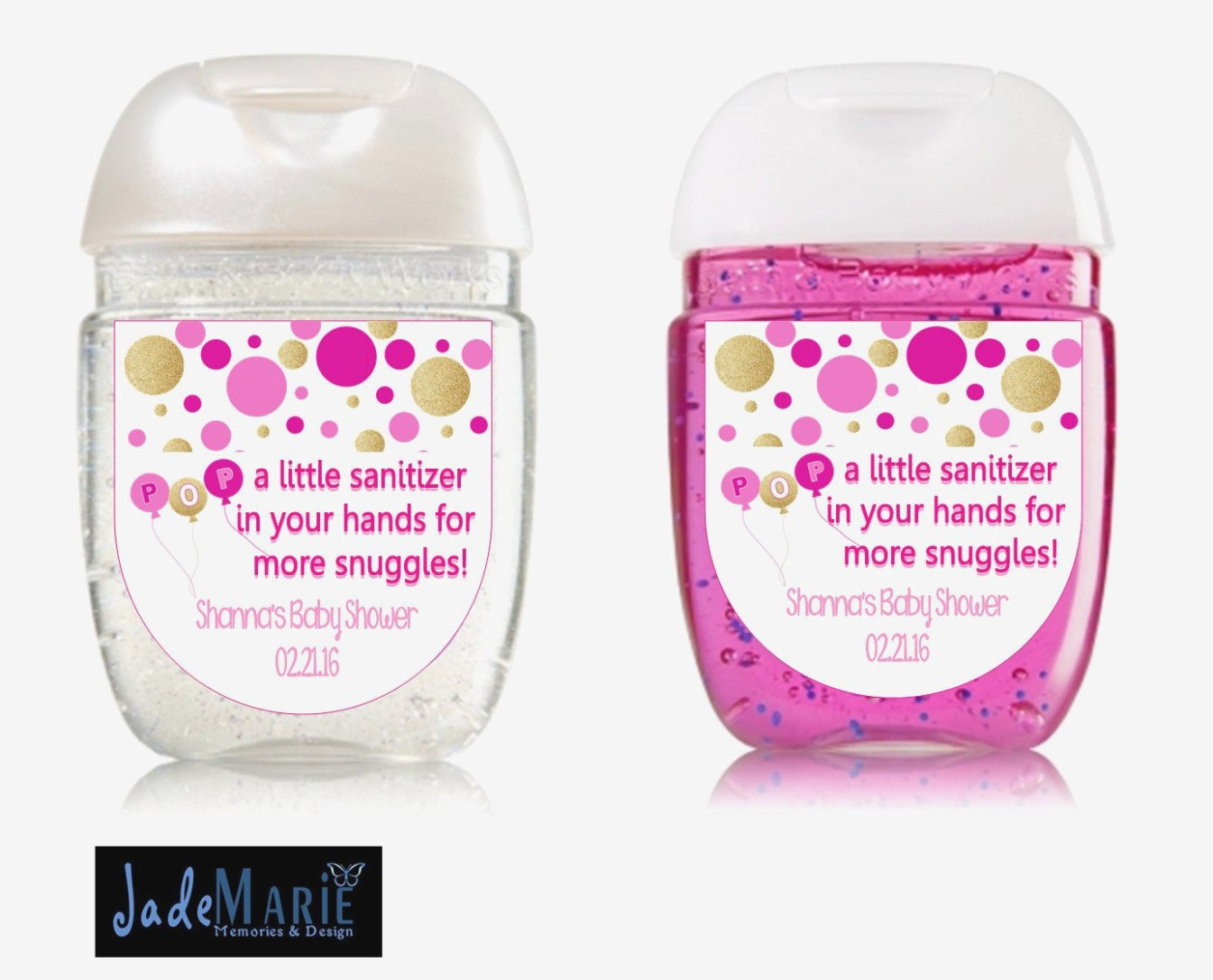 Ready To Pop Hand Sanitizer Labels Baby Shower Favors Digital  Etsy Pertaining To Baby Shower Label Template For Favors