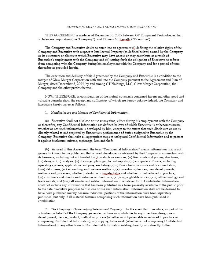 Readytouse Noncompete Agreement Templates ᐅ Template Lab Regarding Business Templates Noncompete Agreement