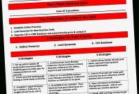 Real Estate Agent Business Plan Template Och The One Page regarding Real Estate Agent Business Plan Template