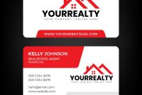 Real Estate Business Card And Logo Template Vector Image with Real Estate Agent Business Card Template
