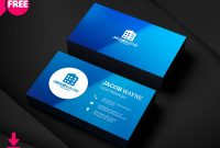 Real Estate Business Card Psd  Freedownloadpsd within Name Card Design Template Psd