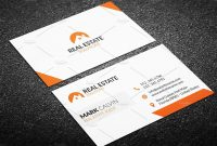 Real Estate Business Card Template Creative for Real Estate Agent Business Card Template