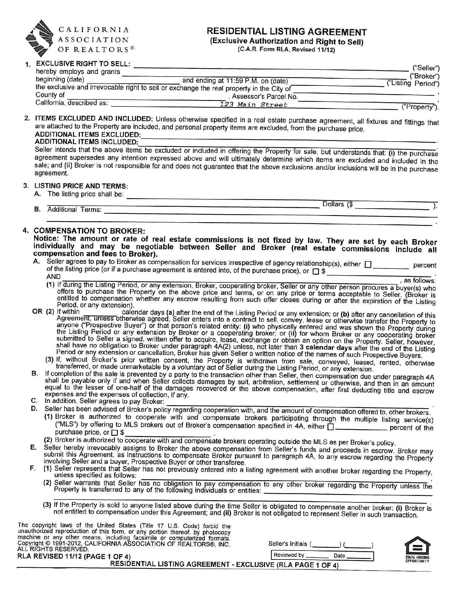 Real Estate Employment Agreement  Real Estate Broker Agreement Throughout Real Estate Broker Fee Agreement Template