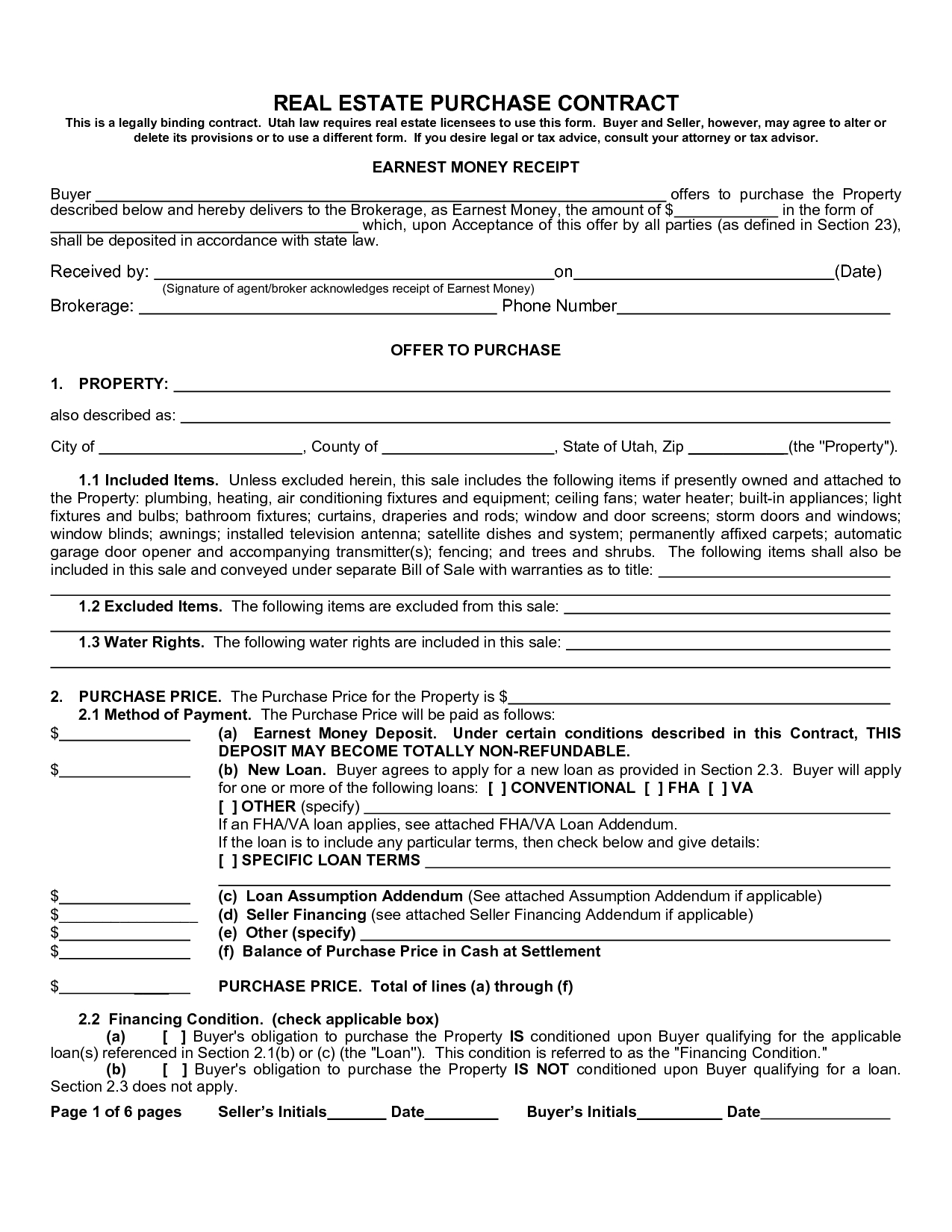 Real Estate Purchase Agreement Form Sample Image Gallery  Imggrid Within Home Purchase Agreement Template