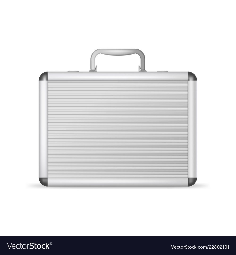 Realistic D Detailed Blank Aluminum Suitcase Vector Image Intended For Blank Suitcase Template