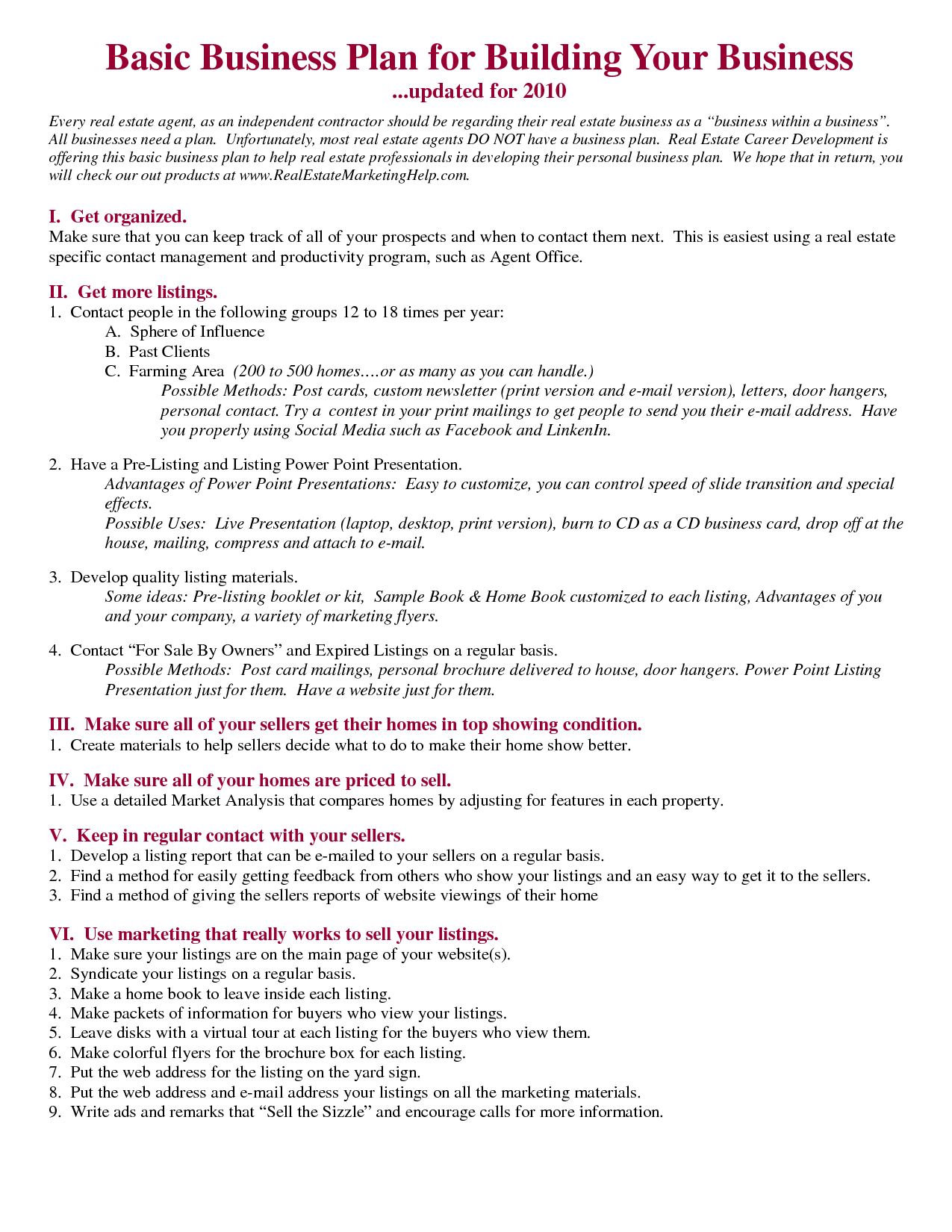 Realtor Business Plan Template Amazing Templates Free For Real With Free Real Estate Agent Business Plan Template