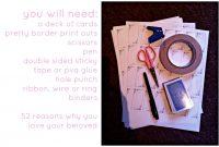 Reasons Why I Love You Diy  Beth Mac Designs in 52 Reasons Why I Love You Cards Templates