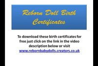 Reborn Dolls Birth Certificates You Can Download A Small Selection throughout Baby Doll Birth Certificate Template