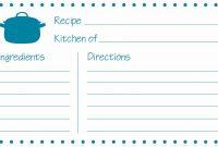Recipe Template Microsoft Word Unique Recipe Card Template – Mosman within Free Recipe Card Templates For Microsoft Word