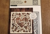 Recollections Thank You Cutting Template   Etsy within Recollections Cards And Envelopes Templates