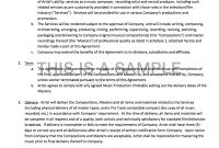 Record Label Contract Template Recording Contracts Success Sample for Record Label Contract Template