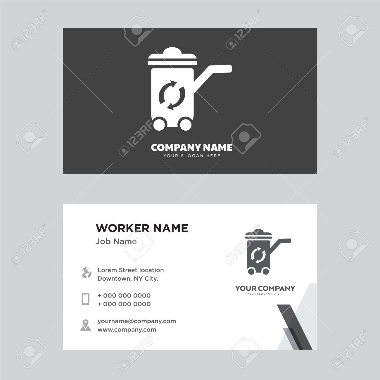 Recycle Bin Business Card Design Template Visiting For Your With Regard To Bin Card Template