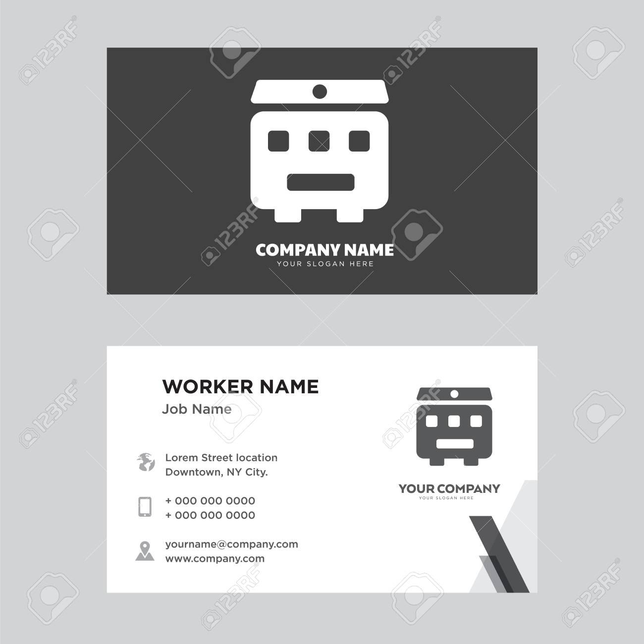 Recycling Bin Business Card Design Template Visiting For Your Inside Bin Card Template