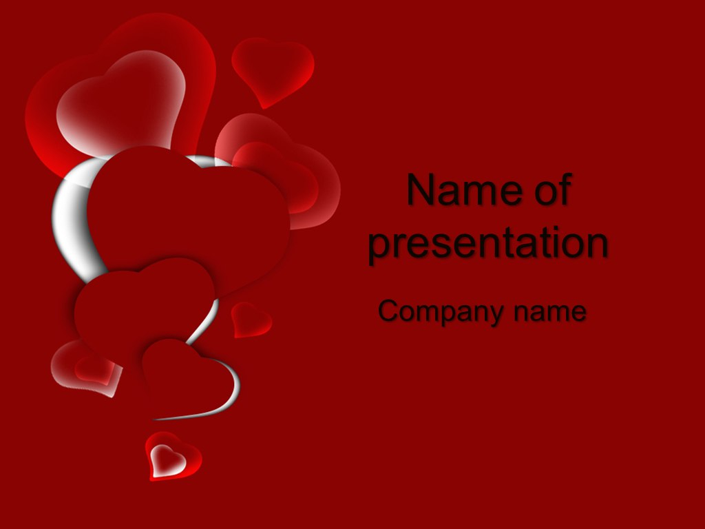 Red Heart Powerpoint Template  Big Apple Templates Throughout Valentine Powerpoint Templates Free