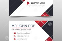 Red Triangle Corporate Business Card Name Card Template Horizontal inside Buisness Card Template