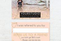 Referral Card Template  Pastel Greetings inside Photography Referral Card Templates