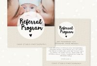 Referral Cards Referral Card Template Referral Program Tell  Etsy throughout Referral Card Template
