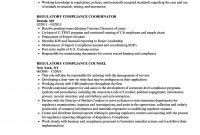 Regulatory Compliance Resume Samples  Velvet Jobs throughout Legal Compliance Register Template