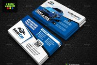 Rent A Car Advertising Bundle Vol Car Rent Advertising Vol with regard to Advertising Cards Templates