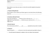 Rental Agreement  Fillable Printable Pdf  Forms  Handypdf pertaining to Yearly Rental Agreement Template
