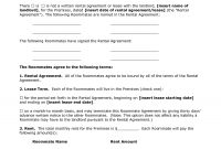 Renters Agreement Form  Docbgf  Roommate Agreement regarding Free Roommate Rental Agreement Template