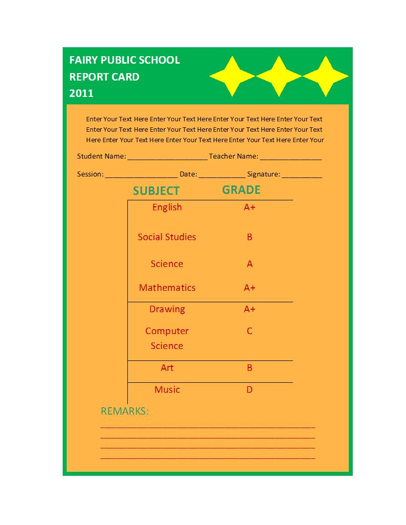 Report Card Template Inside Report Card Format Template