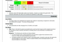 Report Summary Plate Project Management Audit Executive Monthly in It Management Report Template