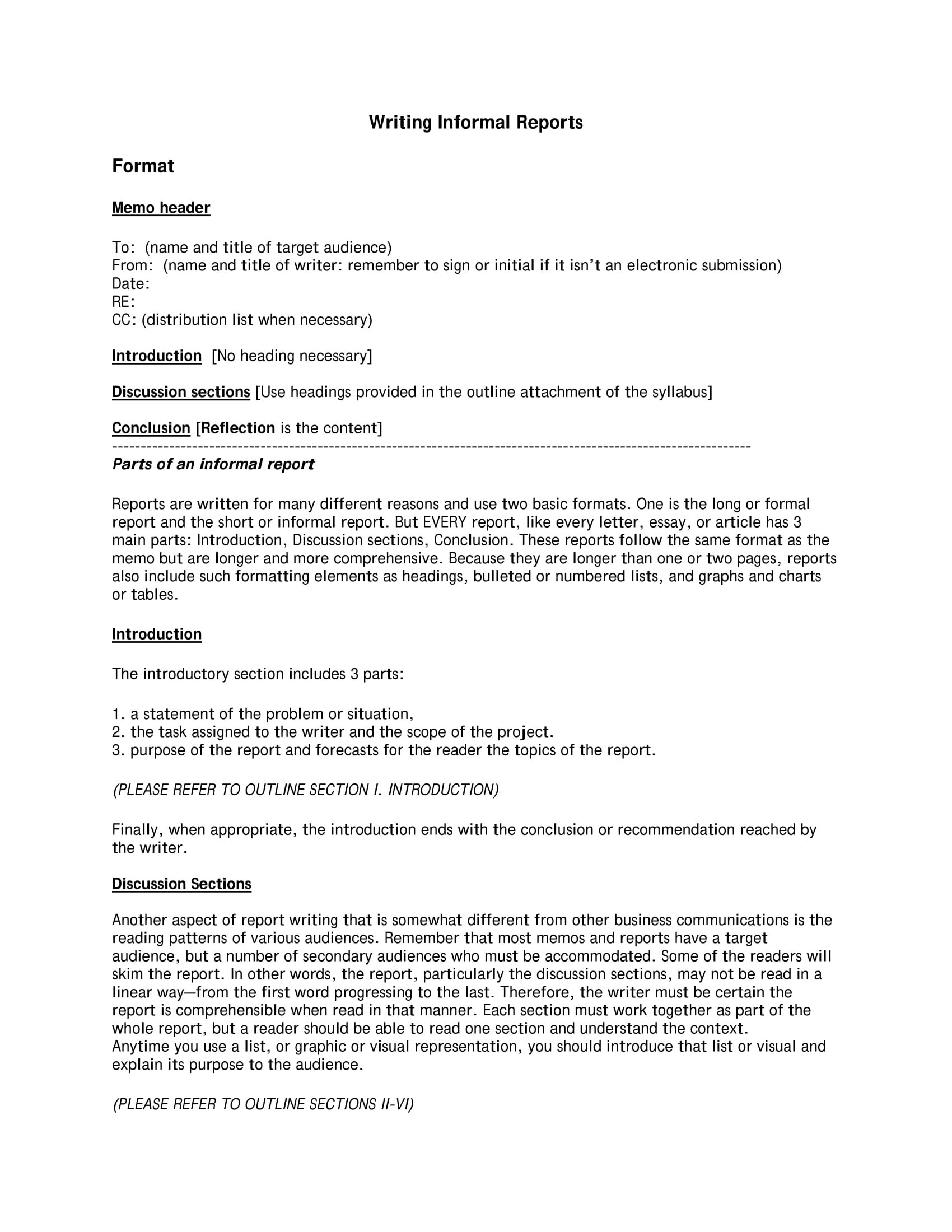Report Writing Format Examples  Pdf Ms Word Pages  Examples Intended For Report Writing Template Free