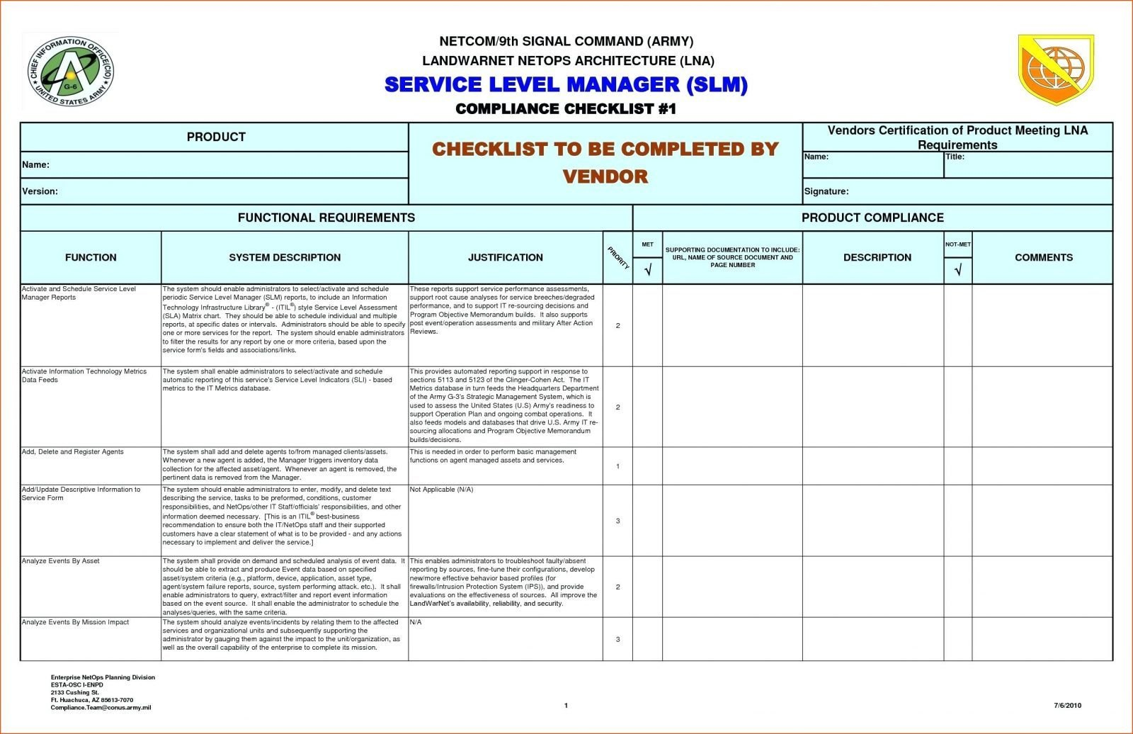 Reporting Requirements Template Ivoiregion Analytics Excel Within Report Requirements Document Template
